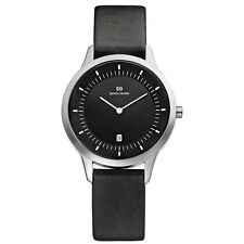 Danish Design IQ13Q984 Black Dial Stainless Steel Black Leather Men's Watch