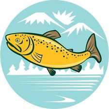 30 Custom Mountain Trout Personalized Address Labels