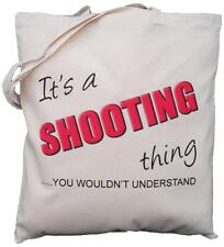 It's a SHOOTING thing - you wouldn't understand - Natural Cotton Shoulder Bag