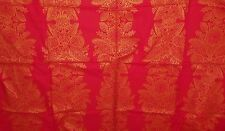 MARIMEKKO FABRIC 1 HUGE CUT RED WITH GOLD PAISLEY DESIGN PERFECT FOR CHRISTMAS