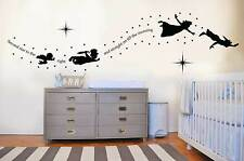 Peter pan tinkerbell second star to the right wall decal sticker mural kids art