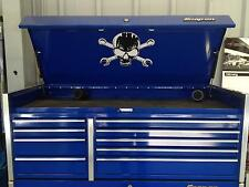 Skull and Cross Wrenches decal for top box lid Snap on tool box cart krl hutch