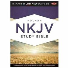 Holman Study Bible: NKJV Edition, Jacketed Hardcover Hardcover , BRAND NEW!!