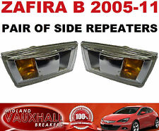 VAUXHALL ZAFIRA B PAIR SIDE REPEATERS WING INDICATORS BOTH SIDES CDTI SRI LIFE
