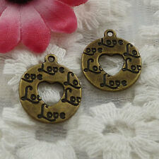 Free Ship 210 pieces bronze plated cute charms 18x15mm #1052