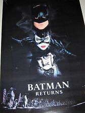 BATMAN RETURNS - Orig.Vintage Poster / the Bat, Cat, Penguin / Exc. new cond.