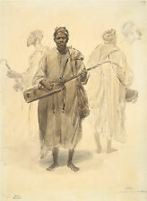 Denis A. M. Raffett Reproduction: A Moorish Street Musician - Fine Art Print