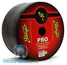 STINGER SPW518BK1 COPPER 1000FT 18 GAUGE WIRE BLACK PRO CAR HOME AUDIO CABLE NEW
