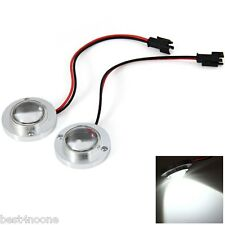 2Pcs LED Car Auto Motorcycle Strobe Head Light 12V 5W Motorbike Lamp Headlights