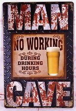 Man Cave Drink Beer Vintage Metal Painting Tin Signs Bar Home Wall Decoration