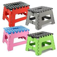 Plastic Multi Purpose Folding Step Stool Home Kitchen Foldable Easy Storage CV