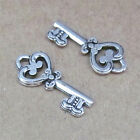 30pc Tibetan Silver Charms Heart Key Pendant Accessories Jewellery Making H709H