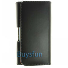 Stylish Black Belt Clip Leather Holster Case for SONY XPERIA S LT26i Arc HD