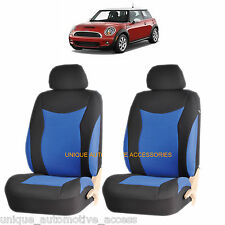 BLUE SPEED AIRBAG COMPATIBLE FRONT LOWBACK SEAT COVER SET for MINI COOPER
