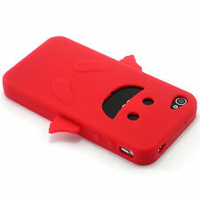 Red Angel Happy Silicone Soft Design Case For iPhone 4 4G 4S NEW