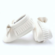 0-18M Baby Tassel Leather Soft Sole Shoes Infant Boy Girl Toddler Crib Moccasin