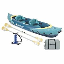 Sevylor Clear Creek 2 Person Kayak Combo with Paddle Pump and Carry Bag
