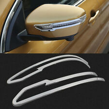 2P Chrome Body Side Rear View Mirror Cover Trims Frame For Nissan Murano 2015-17