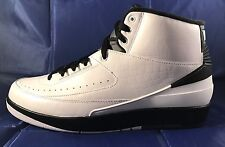 "Nike Air Jordan 2 II Retro ""Wing It"" White Dark Grey-Black 834272 103 Size: 10.5"