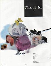 Publicité Advertising  Charles of the Ritz poudre aux tons de pierres precieuses