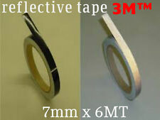3M™ Schwarz Black Reflective Tape Reflexfolie 7mm X 6MT waterproof new!
