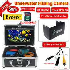 "EYOYO 50m 7"" LCD HD Underwater Video Camera System Fish Finder record DVR Photo"