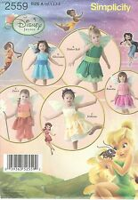 Simplicity 2559 Disney Toddlers' Tinkerbell & Friends Costumes   Sewing Pattern
