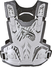 Fly Racing Youth Pivotal Roost Guard Motocross Chest Protector-One Size-White