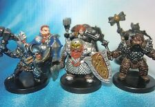 Dungeons & Dragons Miniatures Lot  Dwarf Player Characters !!  s101