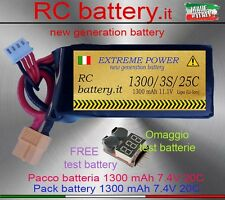 BATTERIA 1300 mAh 11.1V 3S 25-50C LIPO - for all  RC (Alternative TURNIGY)