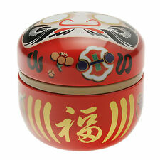 1pc Japanese 100g Red Daruma Wishes Tea Canister #499-555