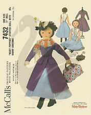 """VINTAGE RISTAMPA di Mary poppins17 """"Panno BAMBOLA cucito PATTERN"""