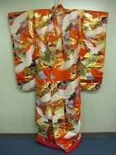 SALE!! 50%OFFJapanese Gorgeous Kimono IRO UCHIKAKE HIshoh Tsuru KOTOBUKI (WIU5)