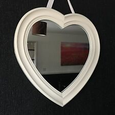 VINTAGE HEART SHAPE WALL MIRROR WALL HANGING HEART MIRROR GIRLS ROOM MIRROR 30CM