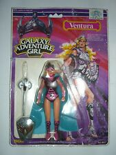GALAXY WARRIOR SUNGOLD GALAXY ADVENTURE GIRL VENTURA var. CARDS MOC VINTAGE MOTU