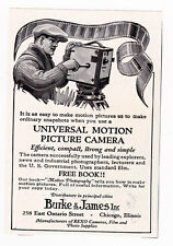 Vintage Universal Motion Picture Camera small clipping ad 1921