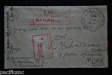 Jap. Occup. Malaya - Seremban to Muar dated 2603.10.18 with red slogan handstamp