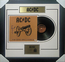 ANGUS YOUNG ACDC SIGNED LET THERE BE ROCK VINYL ALBUM SIGNED FRAMED PSA DNA
