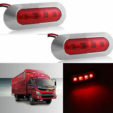 2X 4 SMD LED Car Side Marker Tail Light Lamp Clearance Trailer Truck 10-30V Red
