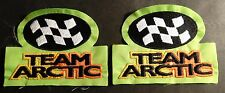 "(2) VINTAGE ARCTIC CAT SNOWMOBILE PATCHES ABOUT 5"" X 3 1/2""   (711)"