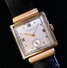 Patek Philippe RARE Antique 18k Rose Gold Hooded Watch Slide-Lock Case Vintage