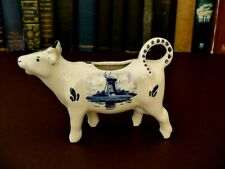 Vintage Delft Blue Cow Milk Jug - Vintage Kitchenalia