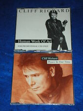 2 CD maxi CLIFF RICHARD human work of art FOR PROMOTIONAL USE ONLY peace in time
