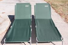 (2)New Coleman Cots Cot Converta Folding Sleeping Bed Camping Emergency Disaster