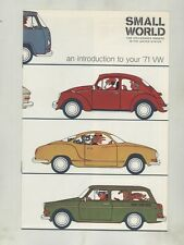 1971 Volkswagen Beetle Type 3 Karmann Ghia US Small World Brochure ww3833