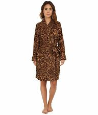 Lauren Ralph Lauren Robe Folded So Soft Terry Short Cheetah Print Wns S NWT $68