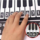 52 Labels Piano Keyboard Note Stickers Lesson Key Decal for Beginner Learn Teach