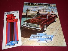 1980 CHEVY EL CAMINO PICKUP TRUCK CATALOG + CHEVROLET PAINT COLOR CHIPS BROCHURE