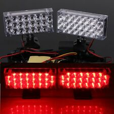 2 x 22 LED Car Red Emergency Flashing Grill Strobe Light Lamp 12V High Safety