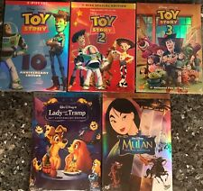 Lot 5 Disney DVDs: Lady And The Tramp, Mulan, Toy Story 1,2,3